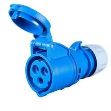 More details for 16amp pce socket ceeform female 16 a ip44 230v 240 volt blue 3 pin pce hook up