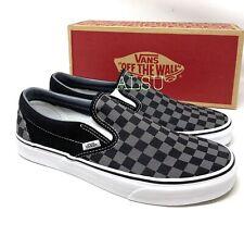 VANS Classic Slip-On Black Pewter Checkerboard Men's Sneakers VN000EYEBPJ