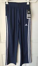 New listing Nwt Adidas Boys Navy Blue White Stripe Lightweight Performance Sweatpant Sz Sm