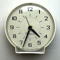 Westclox Constant Alarm Clock White Round Analog Dial Vintage