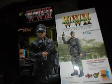 """2 LOT Figures Dragon Cyber Hobby 12"""" WWII German Officer Oberst Max & 1943 Nco"""