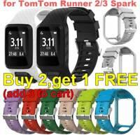 Ersatzarmband für TomTom Runner 2/3 Spark 3 Adventurer GPS Silikon Armband