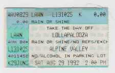 Red Hot Chili Peppers - Pearl Jam - Soundgarden - 8-29-92 WI concert ticket stub