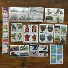 11 MNH 15 cent attached setenant sets US postage stamps