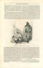 l'Hôte & le Cuisinier le Marchand le Franklin Contes de Canterbury GRAVURE 1842