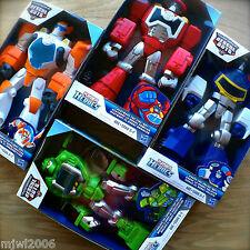 "Transformers RESCUE BOTS Epic BLADES HEATWAVE CHASE BOULDER 10"" Playskool Heroes"