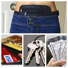 Secret Waist Wallet Pocket Money Belt Valuables Unisex Passport Travel Black