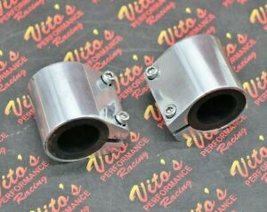 "2 x BILLET ALUMINUM 1"" high temp pipe clamps connectors Yamaha Banshee 1987-2006"