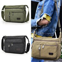 Men Canvas Messenger Vintage Crossbody Bags Shoulder Casual outdoor Travel Bag