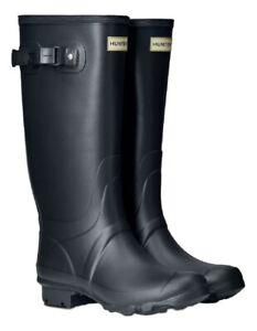SALE Ladies Huntress Wide Calf Hunter Wellies Wellington Boots Navy Blue Size 5