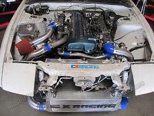 CX Front Mount Intercooler BOV Kit For Stock Turbo 2JZGTE 2JZ-GTE 2JZ Swap 240SX