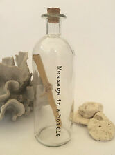 Vintage Glass Message in a Bottle First 1st Paper Wedding Anniversary Gift