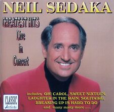 NEIL SEDAKA : GREATEST HITS LIVE IN CONCERT / CD