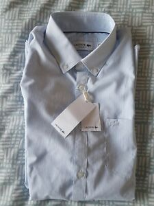 BNWT Authentic LACOSTE Mens Formal Dress Shirt Size Medium FR38 RRP £95
