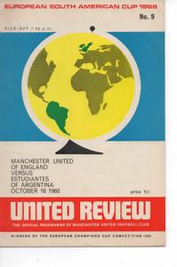 Manchester United v Estudiantes 1968 European/South American Cup Final