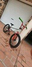 GT BMX bike red, cream 2nd hand, few scratches here and there
