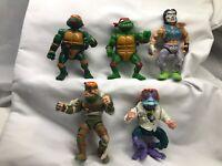 Playmates Toys /mirage studios 1989 Teenage Mutant Ninja Turtle Figure lot