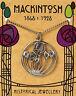 Mackintosh designed Circular Rose Pendant on silver chain with folder *[MACCRP]