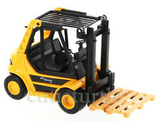 "5.5"" Welly Fork Lift Truck With Pallet Diecast Model Yellow"