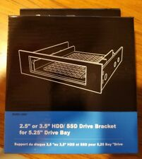 """Brand *NEW Rosewill 2.5"""" or 3.5"""" HDD SSD Drive Bracket For 5.25"""" Drive Bay Black"""