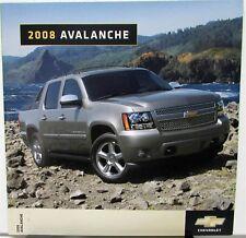 2008 Chevrolet Avalanche Canadian Dealer Sales Brochure