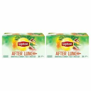 Lipton After Lunch Green Tea, 25 Tea Bags (Pack of 2) Free Shipping