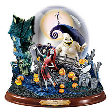Bradford Nightmare Before Christmas Masterpiece Globe Jack & Sally Oogie Boogie