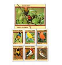 BEN9901 Birds block and 6 stamps MNH BENIN 1999