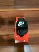 Nike Benassi JDI Men's Slide Black White 343880-090 SZS 8(10),11(2)FREE SHIP