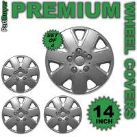 "Delta 14"" WHEEL TRIMS/HUB CAPS Covers Silver Universal SET OF 4"