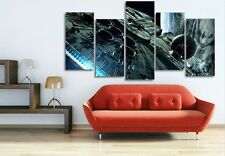 Modern Abstract Oil Painting Wall Decor Art Huge - millennium falcon star wars