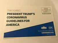 President Trump's Guidelines For America Postcard