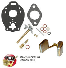 CARBURETOR KIT & FLOAT MASSEY FERGUSON MF 135 150  35 TO35 MASSEY HARRIS F40