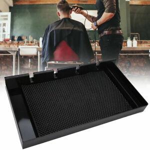 Barber Electric Hair Clipper Storage Box Scissor Comb Display Rack Anti-Slip Pad
