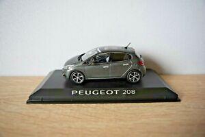 MINIATURE Peugeot 208 5 portes  1/43 Ice Silver - neuve