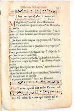Stampa antica ANTIFONARIO SALTERIO musica CANTO GREGORIANO F.437 1663 Old print