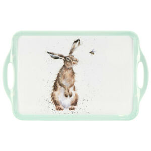 Wrendale Designs Bee Large Tray Melamine Handled Serving Tray Bumblebees Hare