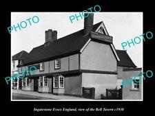 OLD LARGE HISTORIC PHOTO INGATESTONE ESSEX ENGLAND, THE BELL TAVERN c1930