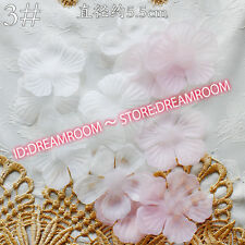 BF53 20pc, Organza Ribbon Flower Appliques Crafts headdress sewing decoration