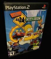 The Simpsons Hit & Run For Sony Playstation 2 *TESTED CIB