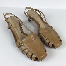 Naturalizer Dora Womens Tan Slingback Strappy Shoe Size 9.5 W
