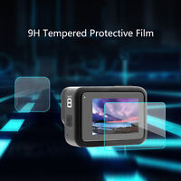 Para GoPro 8 Cámara Lens & Screen Protector Tempered Glass Protective Film Set