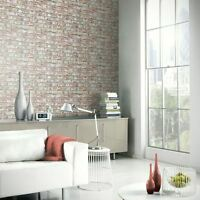 RUSTIC BRICK WALLPAPER ROLLS - NATURAL - ARTHOUSE 889604 WALL