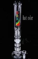 "Water Bong D&K Glass Triple Perc Water pipe Rasta 12.5"""