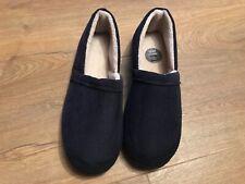M&S Men's navy memory foam comfort slip on slippers size 13 EUR 49 bnwt **