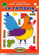 La Fattoria. Impara completa e colora - Salvadeos - Libro nuovo in offerta!