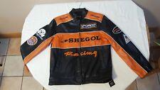 Christmas Sale - Very Stylish Men's 'Shegol Racing' Biker jacket Chest 38 inches