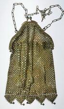 Antique Art Deco Chain Link Mesh Flapper Metal Purse