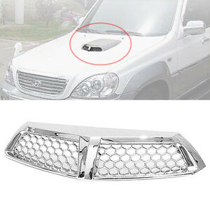 Front Chrome Intercooler Molding Garnish Cap For 01 04 Hyundai Terracan 2.5