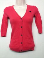 Abercrombie & Fitch KIDS Cardigan Sweater Red Long Sleeve V-Neck Button Down S